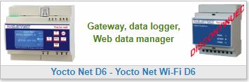 Gateway, data logger, Web data manager